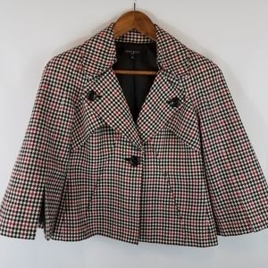 Nine West Houndstooth Jacket with Bell Sleeves